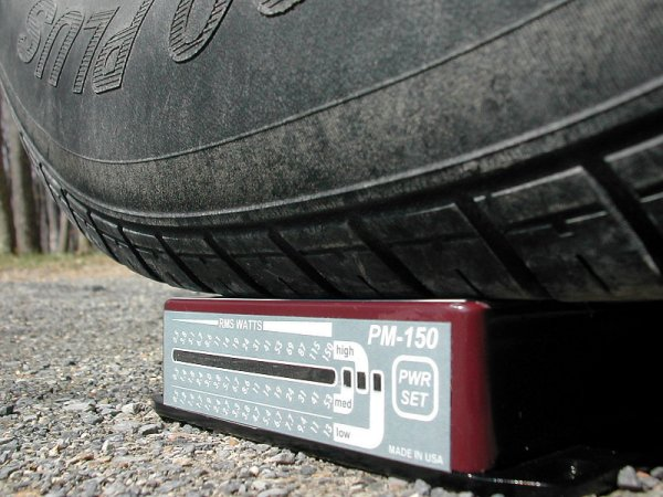 PM-150 Under a Tire